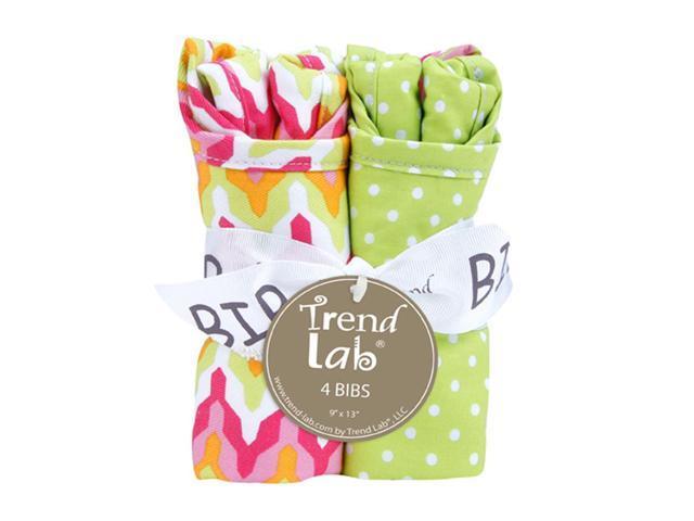 Trend Lab Kids Infant Bouquet 4 Pack Bib - Savannah