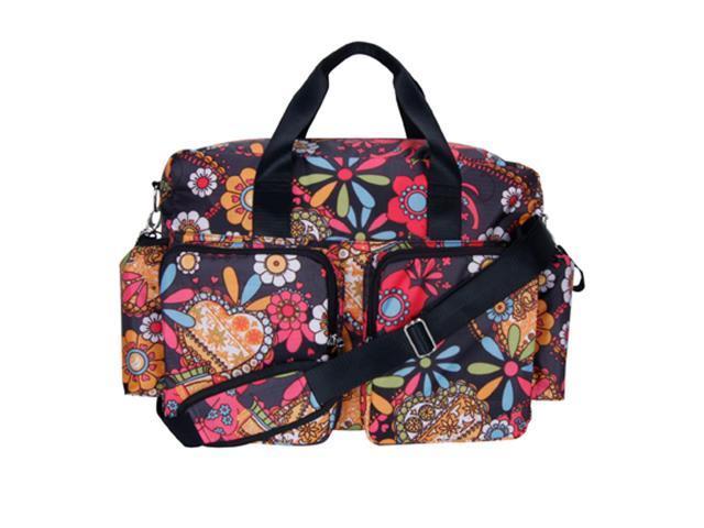 Trend Lab Kids Baby Diaper Bag - Bohemian Floral Deluxe Duffle