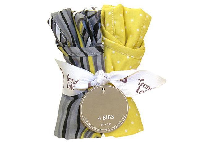 Trend Lab Kids Baby Bouquet 4 Pack Bib - Hello Sunshine