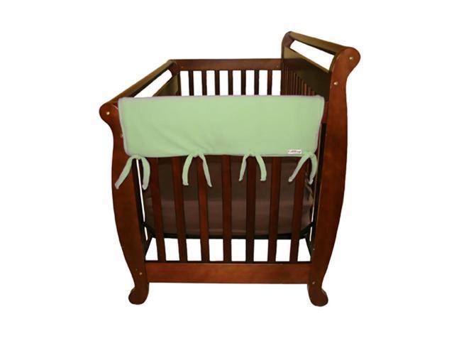 Trend Lab Kids Baby Cribwrap Wide Rail Cover - Short Sage Fleece