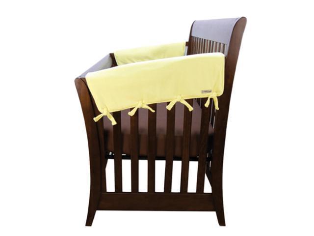 Trend Lab Kids Baby Cribwrap Wide Rail Cover - Short Yellow Fleece