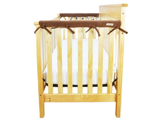Trend Lab Kids Baby Cribwrap Narrow Rail Cover - Short Brown Fleece