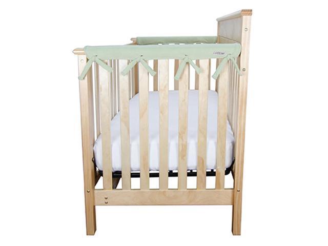 Trend Lab Kids Baby Cribwrap Narrow Rail Cover - Short Sage Green Fleece
