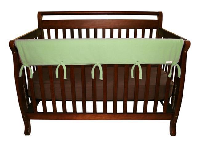 Trend Lab 109079 Baby Cribwrap Wide Rail Cover - Long Sage Fleece