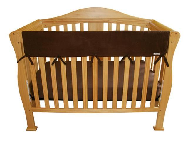 Trend Lab 109081 Baby Cribwrap Wide Rail Cover - Long Brown Fleece