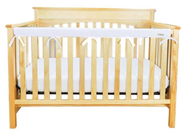 Trend Lab Kids Baby Cribwrap Narrow Rail Cover - Long White Fleece