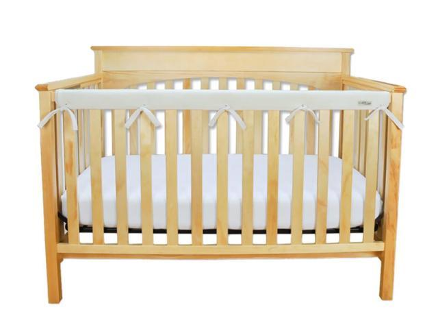 Trend Lab Kids Baby Cribwrap Narrow Rail Cover - Long Natural Fleece