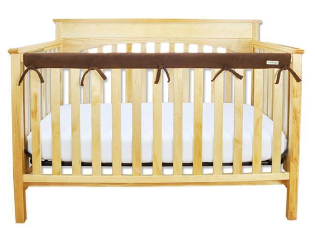 Trend Lab Kids Baby Cribwrap Narrow Rail Cover - Long Brown Fleece
