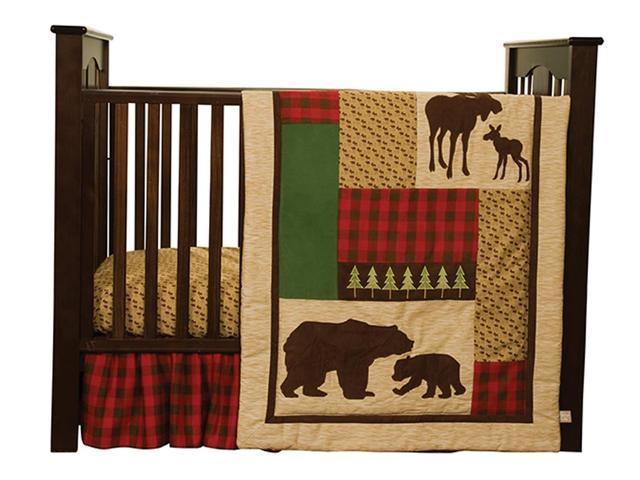Trend Lab Kids Baby Northwoods - 3 Piece Crib Bedding Set
