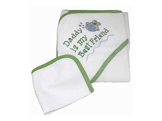 Babygiftidea Newborn Baby Bath Wrap Hooded Towel Saying Daddy is My Best Friend