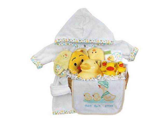 Babygiftidea Newborn Keepsake Dailycare Essential Storage Baby Duck Gift Basket
