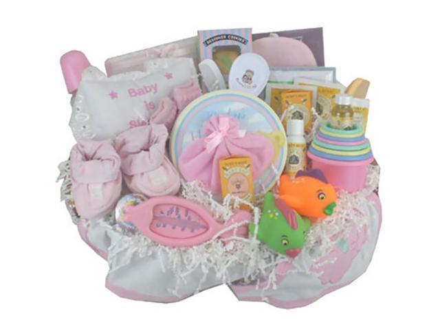 Babygiftidea Newborn Dailyuse Storage Everything Bath Time Gift Basket Pink