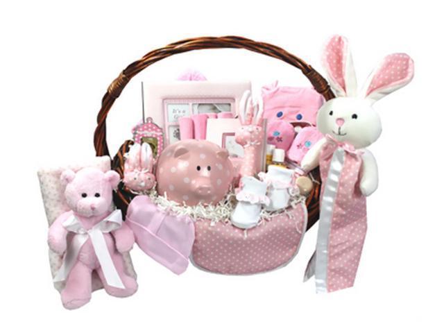 Babygiftidea Newborn Storage Bountiful Beginnings Baby Basket Pink