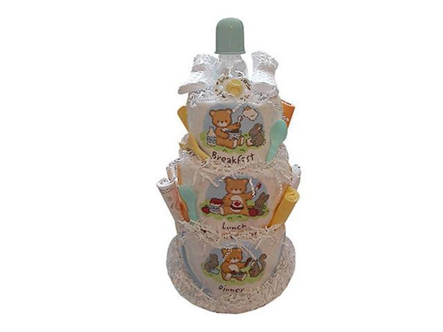 Babygiftidea Centerpiece Newborn Baby Breakfast, Lunch & Dinner Diaper Cake