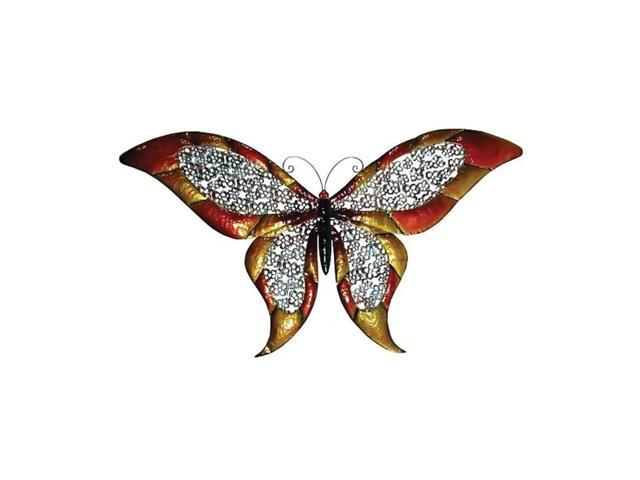 Home Indoor Wall Mounted 51.5 inch Metal Wide Decorative Colored Butterfly