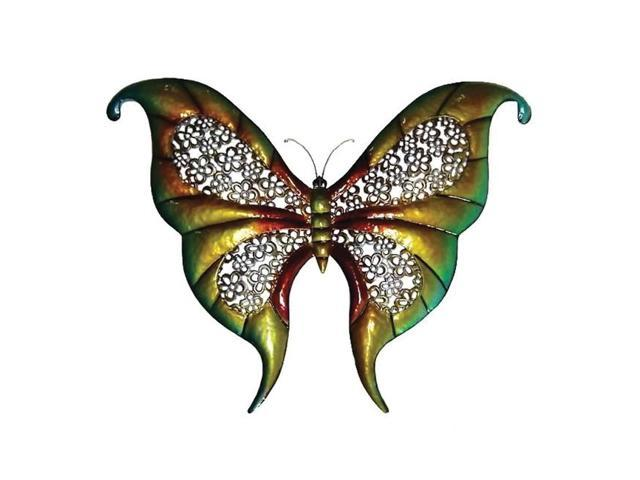 Home Indoor Wall Mounted 32 inch Metal Decorative Wide Butterfly