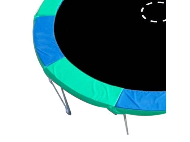 Standard Kids Outdoor Safety Pad (Spring Cover) for 15ft Trampoline - Blue / Green