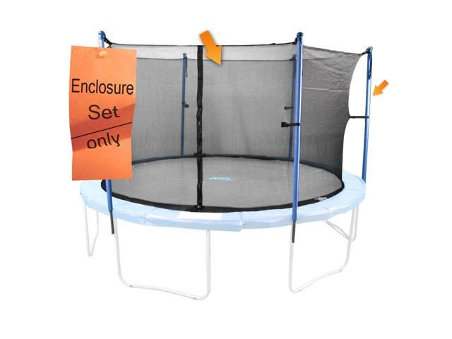Trampoline Enclosure System for 14ft Trampoline that has 4 U-Legs