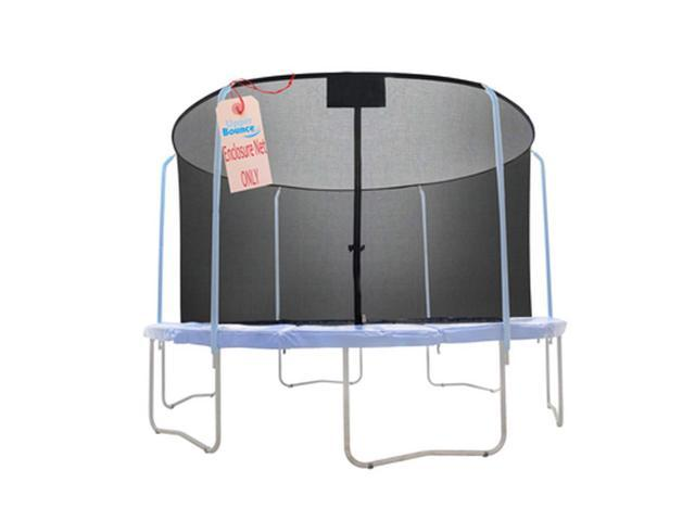 Net for 12ft Trampoline Enclosure using 6 Poles and Sleeves