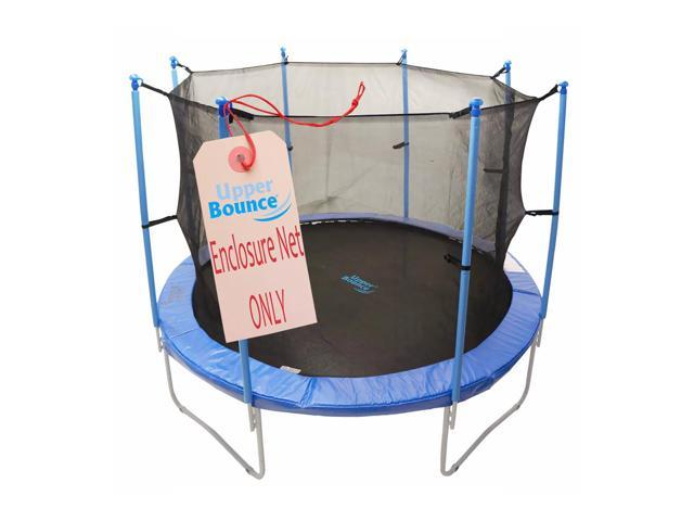 Net for 14ft Trampoline Enclosure using 8 Pole or 4 Arches and Straps