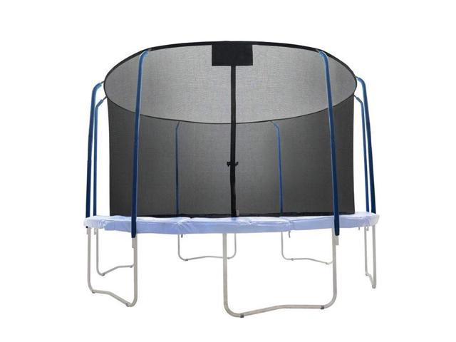 Net for 15ft Trampoline Enclosure using 6 Poles and Sleeves