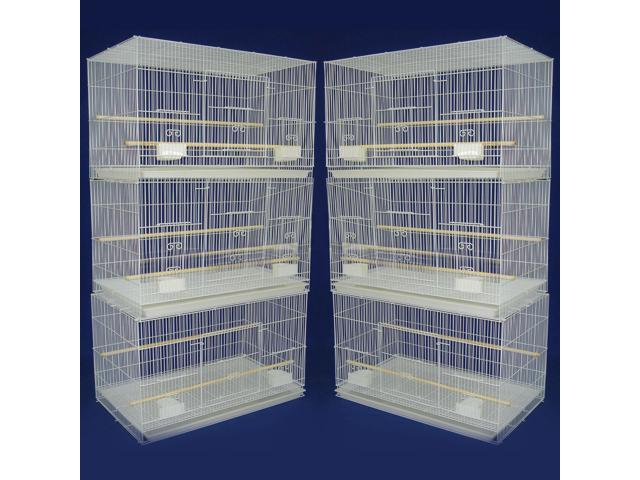 YML 6 Small Breeding Cages, White - 6x2424WHT