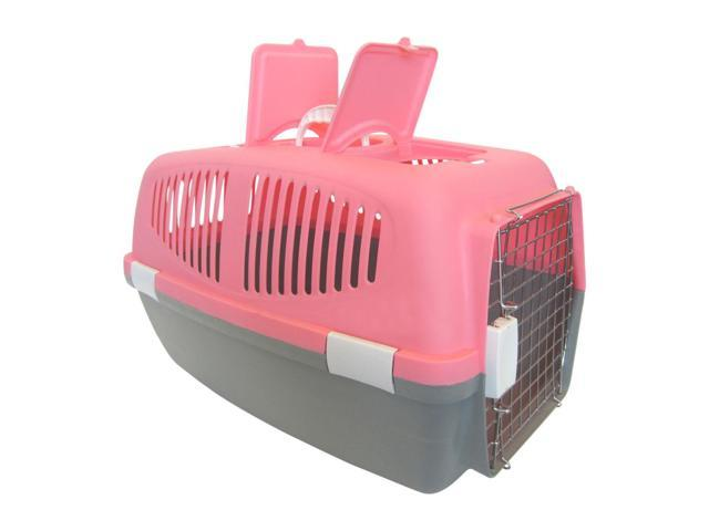YML Group Home Indoor Pet Decorative Medium Plastic Carrier for Small Animal, Pink