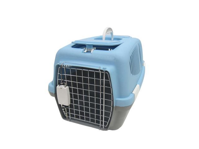YML Group Home Indoor Pet Decorative Medium Plastic Carrier for Small Animal, Blue