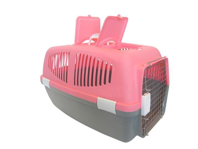 YML Group Home Indoor Pet Decorative Large Plastic Carrier for Small Animal, Pink