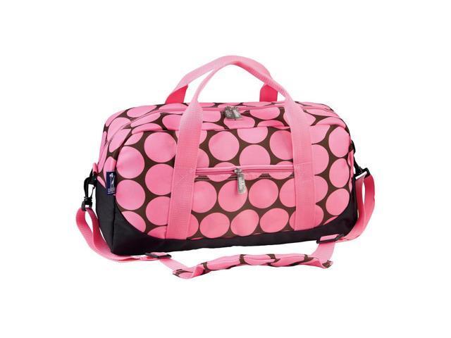 Wildkin Kids outdoor Camping Travel overnight Picnic Tote Big Dot Pink Duffel Bag Pink