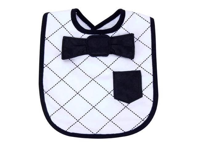 Trend Lab Baby Nursery Dress Up Bowtie Bib - Black/White