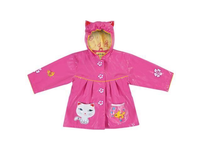Kidorable Kids Children Outwear Lucky Cat PU Coats Size 4T