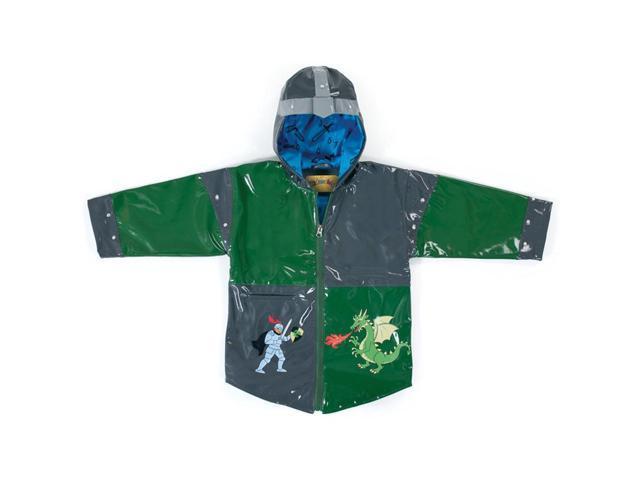 Kidorable Kids Children Outwear Grey Dragon Knight PU Coats Size 4/5