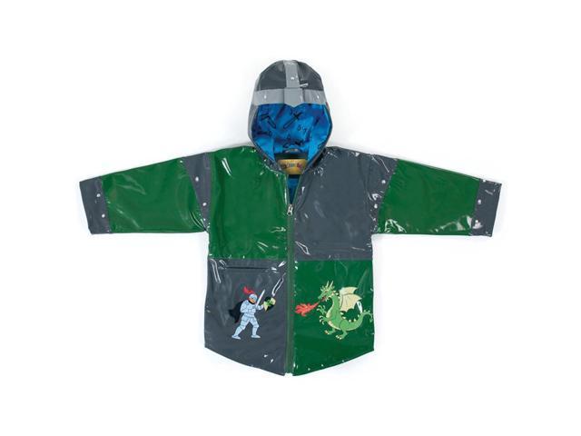 Kidorable Kids Children Outwear Grey Dragon Knight PU Coats Size 5/6