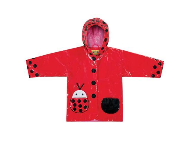 Kidorable Kids Children Outwear Ladybug PU Rain Coats Size 2T
