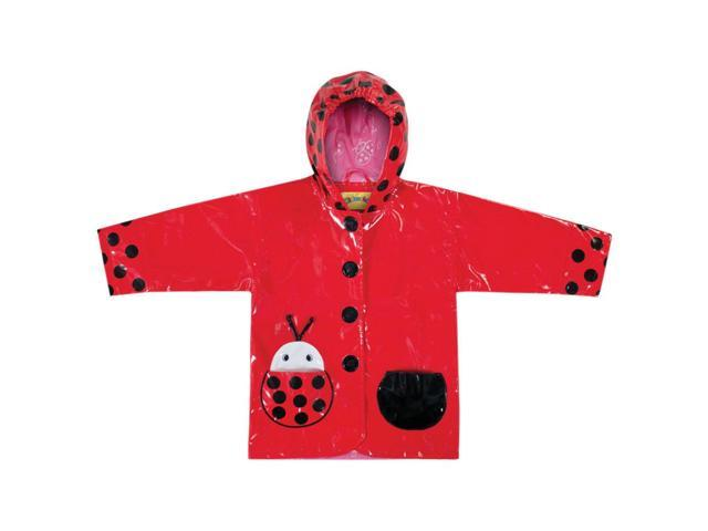 Kidorable Kids Children Outwear Ladybug PU Rain Coats Size 4T