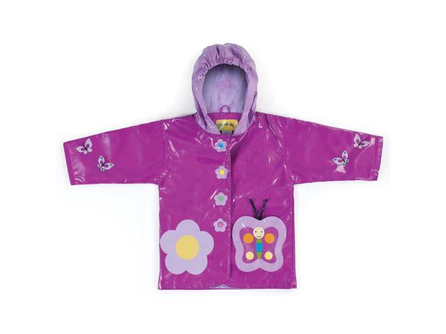 Kidorable Kids Children Outwear Butterfly PU Rain Coats Size 3T