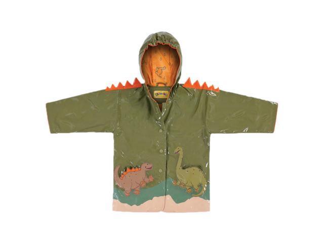Kidorable Kids Children Outwear Green Dinosaur PU Coats Size 12-18 Months