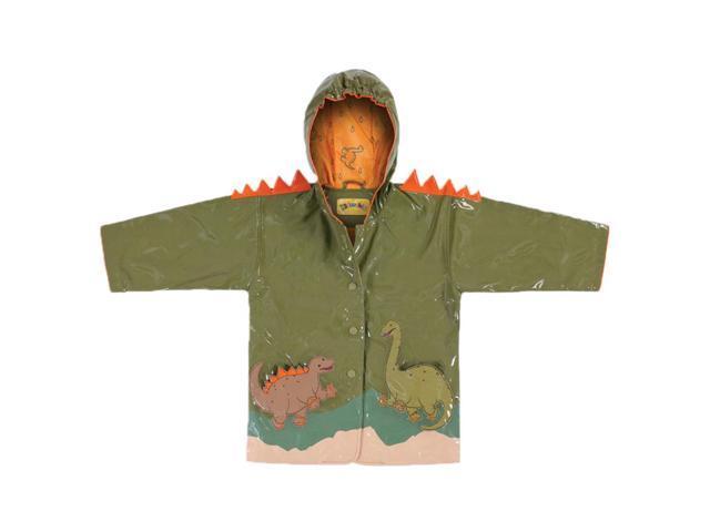 Kidorable Kids Children Outwear Green Dinosaur PU Coats Size 3T
