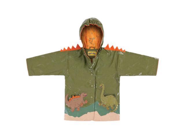 Kidorable Kids Children Outwear Green Dinosaur PU Coats Size 4T