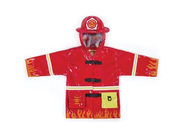Kidorable Kids Children Outwear Red Fireman PU Coats Size 3T