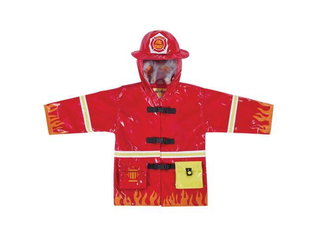 Kidorable Kids Children Outwear Red Fireman PU Coats Size 4/5