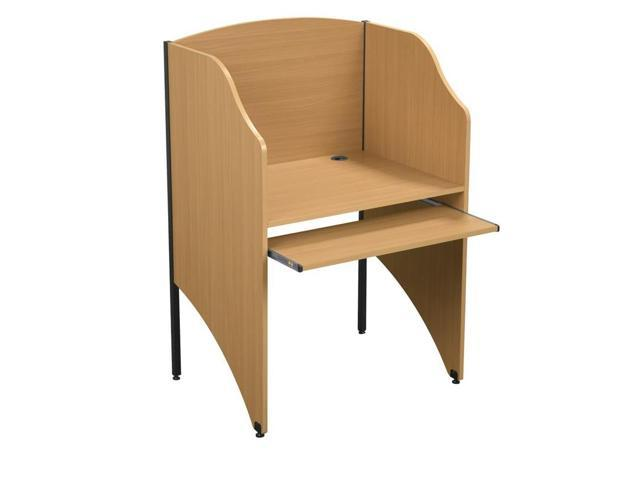 Balt Standard 5/8 inches Floor Carrel - Teak