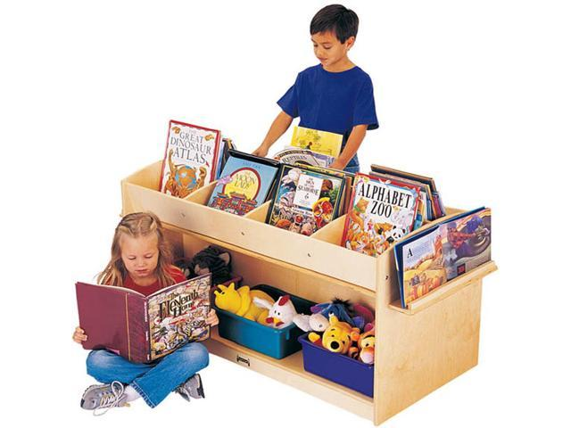 Jonti-Craft Kids School Play Wooden Reading Book Browser Display Storage Organizer Unit