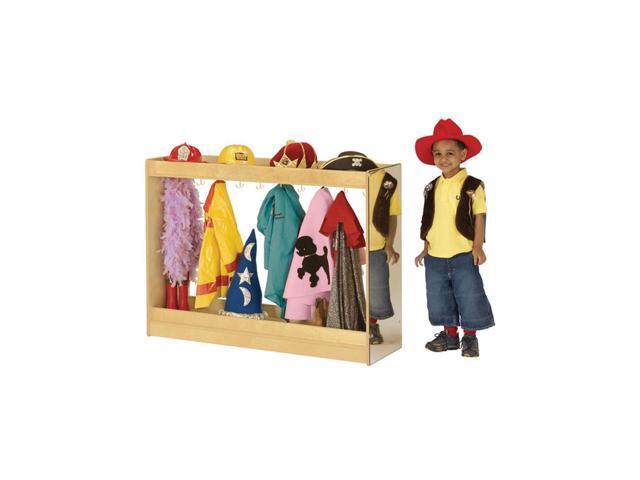 Jonti-Craft Kids Room Pretend Play Wooden Dress Up Island Furniture Set Large