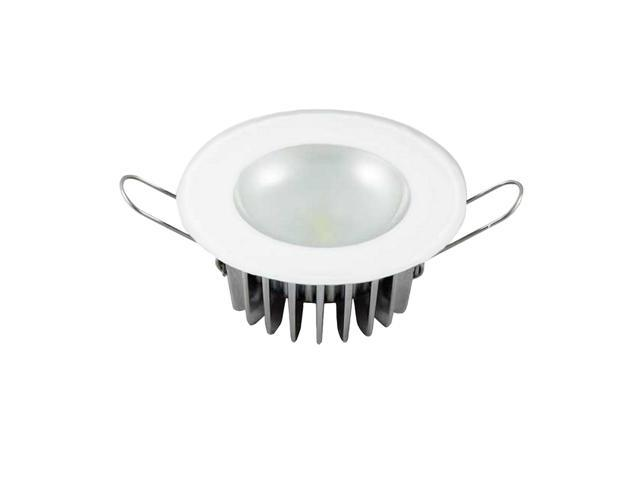 Mirage Flush Mount Interior Down Light - Dimmable White - Glass Fixture No Bezel - 2.5
