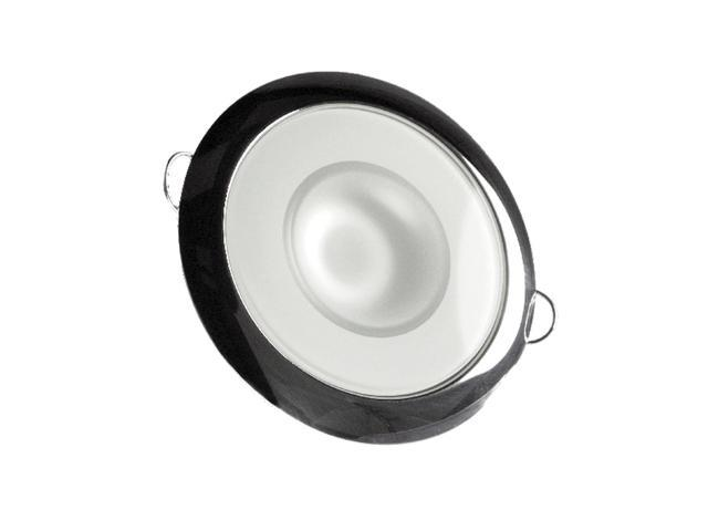 Mirage Flush Mount Interior Down Light - Dimmable White - Polished Bezel - 3.25