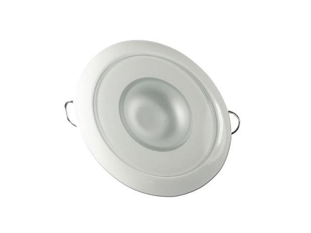 Mirage Flush Mount Interior Down Light - Dimmable White and Blue - White Bezel - 3.25