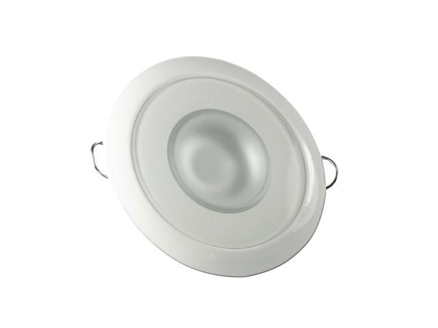 Mirage Flush Mount Interior Down Light - Dimmable White, Red and Blue - White Bezel - 3.25