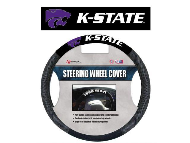 Fremont Die College Sports Team Kansas State Wildcats Poly-Suede Steering Wheel Cover